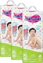 Набор трусиков Manuoki ХL (12+ кг) 3 пачки по 38 шт