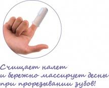 """Зубная щетка Lubby """"Первая"""" на палец"""