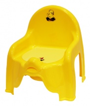 Горшок-стульчик, желтый, М-пластика