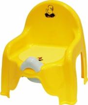 Горшок-стульчик М-пластика желтый