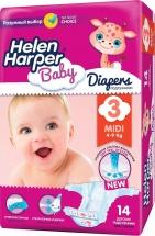 Подгузники Helen Harper Baby 3 (4-9 кг) 14 шт