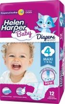 Подгузники Helen Harper Baby 4 (7-18 кг) 12 шт