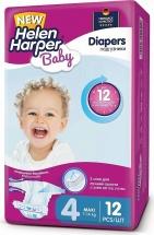 Подгузники Helen Harper Baby 4 (7-14 кг) 12 шт