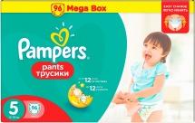 Трусики Pampers 5 (12-18 кг) 96 шт