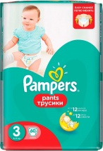 Трусики Pampers 3 (6-11 кг) 60 шт