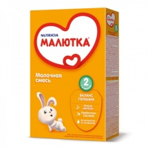 """Сухая молочная смесь """"Малютка  №2"""", с 6 мес., 350г., Nutricia"""