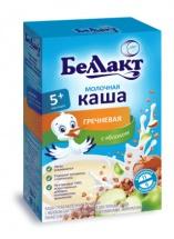 Каша молочная гречневая с яблоками, с 5мес., 250 гр., Беллакт