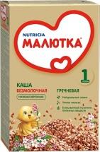 Каша Малютка безмолочная гречневая с 4 мес 200 г