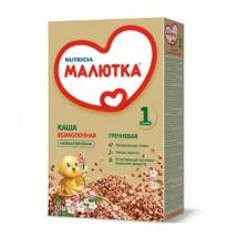 Каша безмолочная гречневая, с 4мес., 200 гр., Малютка