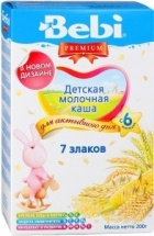 Каша молочная 7 злаков, Premium, с 6 мес., 200гр, Bebi