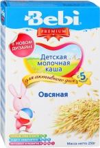 Каша молочная овсяная, Premium, c 5 мес., 250гр., Bebi