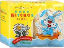 Крем-мыло Ушастый нянь детское с ромашкой 4х100 г