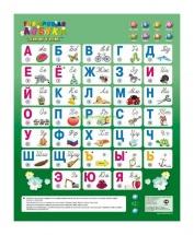 """Электронный плакат """"Говорящая азбука"""", 8 режимов, Знаток"""