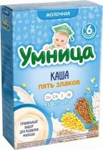 Каша Умница молочная 5 злаков с 6 мес 200 г