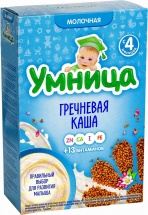 Каша Умница молочная гречневая с 4 мес 200 г