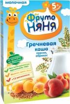 Каша молочная греча-персик-абрикос, с 5мес., 200гр., ФрутоНяня