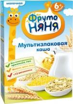 Каша молочная мультизлаковая, с 6 мес., 200гр., ФрутоНяня