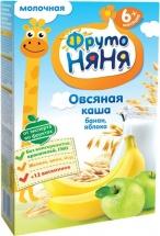 Каша молочная овсяная яблоко-банан, с 6 мес., 200гр., ФрутоНяня