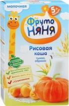 Каша молочная рис-тыква-абрикос, с 5 мес., 200гр., ФрутоНяня