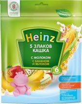 Каша Heinz молочная 5 злаков с бананом и яблоком с 6 мес 250 г