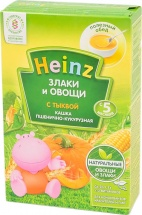 Каша пшенично-кукурузная с тыквой, Злаки и Овощи, с 5 мес., 200 гр., Heinz