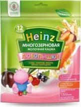 """Каша """"Многозерновая слива-морковка-вишня-черн.смородина"""", Любопышки, с 12 мес., 200гр., Heinz"""