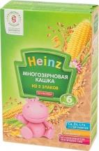 Каша безмолочная многозерновая 5 злаков, с 6 мес., 200гр., Heinz
