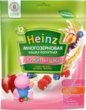 Каша Heinz Любопышки молочная многозерновая йогурт-слива-яблоко-малина-черника с 12 мес 200 г