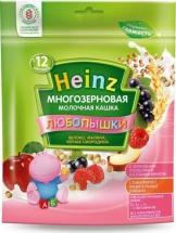 """Каша """"Многозерновая яблоко-малина-черн.смородина"""", Любопышки, с 12 мес., 200гр., Heinz"""
