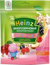 Каша Heinz Любопышки молочная многозерновая яблоко-малина-черная смородина с 12 мес 200 г