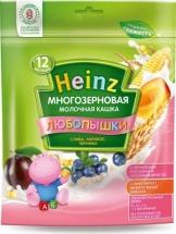 """Каша """"Многозерновая слива-абрикос-черника"""", Любопышки, с 12 мес., 200гр., Heinz"""