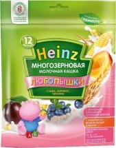 Каша Heinz Любопышки молочная многозерновая слива-абрикос-черника с 12 мес 200 г