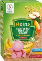 Каша Heinz безмолочная пшенично-овсяная с фруктиками с 6 мес 200 г
