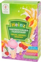 """Каша лакомая """"Пшеничная абрикос-персик-вишня"""", с 5 мес., 200гр., Heinz"""