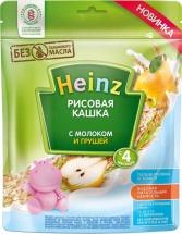 Каша Heinz молочная рисовая с грушей с 4 мес 250 г