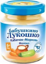 Пюре Бабушкино лукошко Кабачок-Морковь-Молоко с 6 мес 100 г