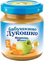 Пюре Бабушкино лукошко Морковь-Яблоко с 5 мес 100 г