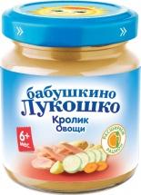 Пюре Бабушкино лукошко Кролик-Овощи с 6 мес 100 г