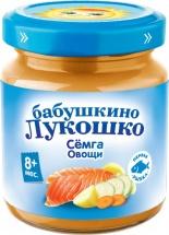 Пюре Бабушкино лукошко Семга-Овощи с 8 мес 100 г
