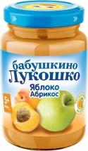 """Пюре """"Яблоко с абрикосом"""" с 5 мес., 200 гр., Бабушкино лукошко"""