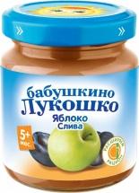 Пюре Бабушкино лукошко Яблоко-Слива с 5 мес 100 г