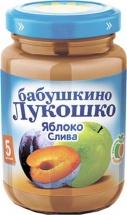 Пюре Бабушкино лукошко Яблоко-Слива с 5 мес 200 г