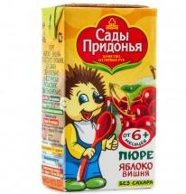 Пюре Сады Придонья Яблоко-Вишня с 6 мес 125 г