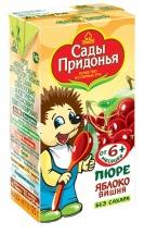 """Пюре """"Яблоко-вишня"""" с 6 мес., 125 мл., Сады Придонья"""