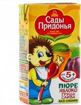 Пюре Сады Придонья Яблоко-Груша-Слива с 5 мес 125 г