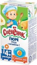 """Пюре """"Груша с витамином С"""", с 4 мес., 125мл, Спеленок"""