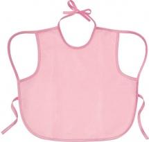 Слюнявчик Курносики непромокаемый 32х36 см, розовый