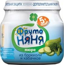 """Пюре """"Брокколи и кабачок"""", с 5 мес., 80 гр., ФрутоНяня"""