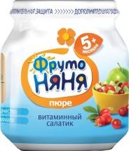 """Пюре """"Витаминный салатик"""", с 5 мес., 100 гр., ФрутоНяня"""