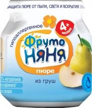 "Пюре ""Груша"", с 4 мес., 100 гр., ФрутоНяня"